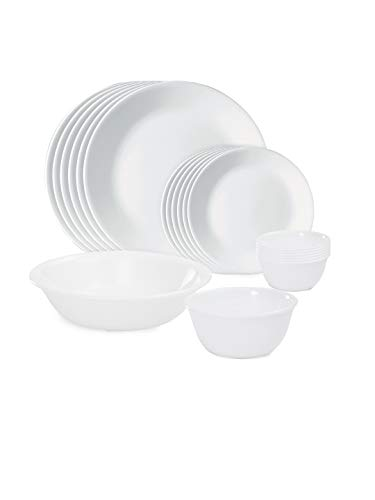 Corelle Winter Frost White Dinnerware Set with lids