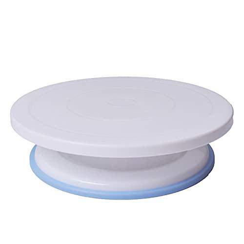 QIAOLI Soporte para tartas DIY Soporte giratorio de plástico para decoración de tartas, soporte de exhibición, herramientas para hornear, platos de postre (color: E)