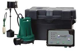 Zoeller 508-0014 Aquanot Fit 12-volt DC Battery Back-up Sump Pump System with Built-in Wi-Fi for Z Control Connectivity