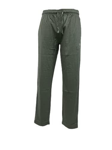 BE BOARD Pantalone Tuta Uomo Taglie Forti Cotone Leggero Art 910 CONF Militare (6XL)