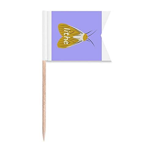 Lithe Motte Phengophil Zahnstocher mit Flügeln, Flaggen zur Beschriftung von Partys, Kuchen, Lebensmitteln, Käseplatte
