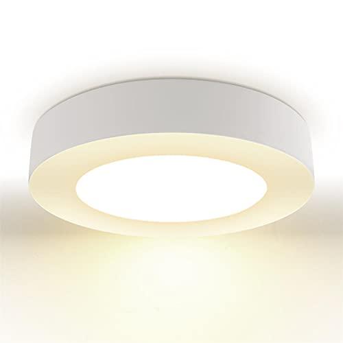 Aigostar Plafón LED Ultra Fino 24W Luz Natural 4000K 1680LM 160 ° Haz Grande Lámpara de Techo Adecuado Para Cocina Salón Dormitorio Baño Pasillo Comedor Ø24,6cm [equivalente a 109W]