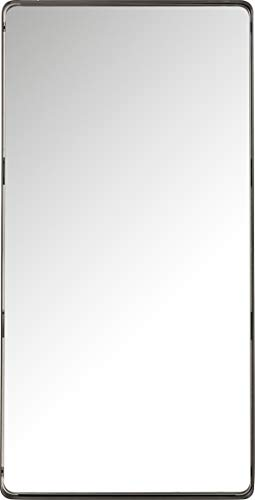 Kare Design Spiegel Ombra Soft, schwarz, moderner Wandspiegel, Edler Badspiegel, großer...