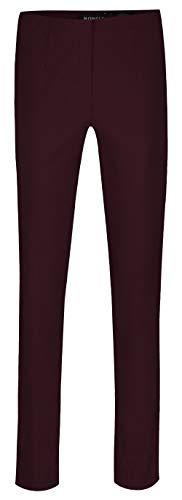 Robell Marie Stretchhose Schlupfhose Damen Hose Slim Fit - Winterkollektion 2015/16 (42, weinrot(56))