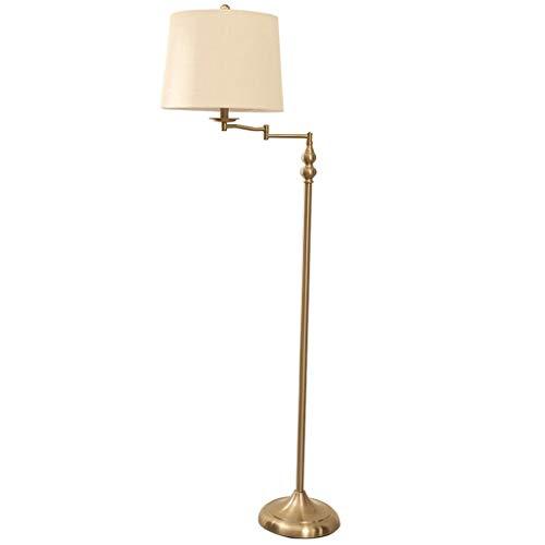 Lámpara de pie creativa 62''Metal Lámpara de diseño moderno, lámpara de viento Soporte Universal Rotary Switch Plug-in estándar de la lámpara for la sala de estar y dormitorio Lámpara de Suelo de pers