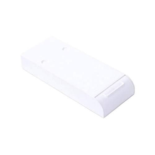 kexinda Debajo del Escritorio del cajón del Ministerio del Interior en Virtud de la Tabla organizado sostenedor de la Caja de plástico ABS Bandeja de Almacenamiento, White