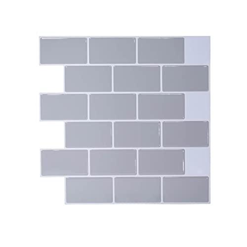 Vinilos para azulejos de pared Peel y paleta de paletas en 3D Pegatina de tejas de la pared de la pared de la cocina Pegatinas de azulejos Peel and Stick Wall Tile Aislamiento térmico (Color : C)
