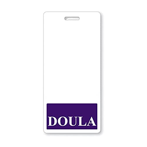 Doula Badge Buddy - Heavy Duty Vertical Badge Buddies for Doulas - Spill & Tear Proof Cards - 2 Sided USA Printed Quick Role Identifier ID Tag Backer by Specialist ID