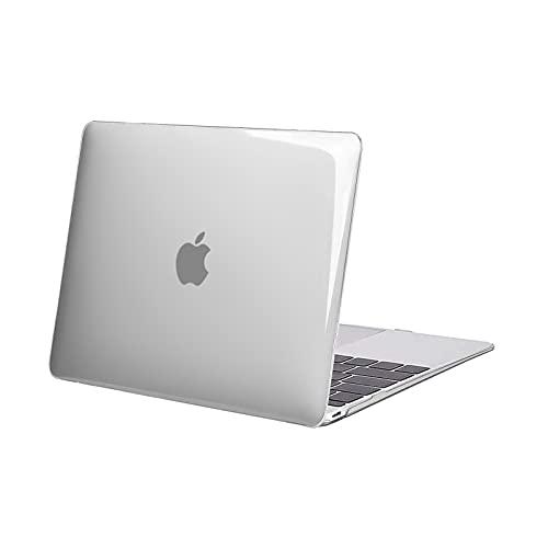 MOSISO Hülle Kompatibel mit MacBook 12 Retina - Superdünne Plastik Hartschale Hülle Snap Hülle Kompatibel mit MacBook 12 Zoll mit Retina Bildschirm A1534 (Version 2017/2016/2015), Klar/Kristall