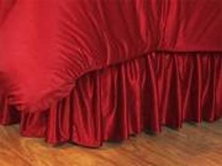 NCAA Arkansas Razorbacks Bed Skirt, King, Bright Red