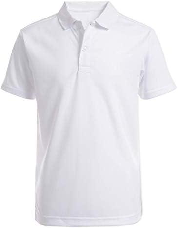 Nautica Boys Big Boys Uniform Short Sleeve Performance Polo White X Large 18 20 product image