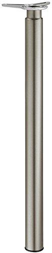 Gedotec Möbelfuß Edelstahl Tischbein höhen-verstellbar +180 mm Tischfuß Metall - H1730 | Verstellfuß Höhe 700-880 mm | Fuß-Rohr-Ø 60 mm | 1 Stück - Teleskop-Tischbein aus Stahl für Tischplatten