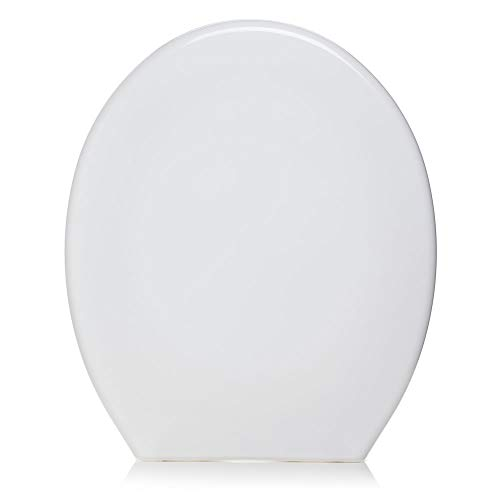 wilko Functional Bathroom White Toilet Seat, 4.2 x 36.5 x 44.5cm, Easy to Clean, Fittings Included