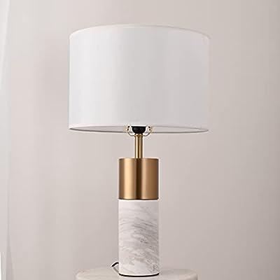 [Diseño simple pero elegante]: la lámpara se termina con una sombra inteligente de diámetro de 25 cm de color gris claro contemporáneo que coincide perfectamente con el impresionante níquel y la base de mármol. Da una hermosa luz suave cuando se enci...