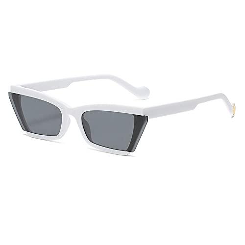 Gafas de sol Gafas de sol PERSONALIDAD ANCHOR STRELE TOMANDO TIPO ESPEJO Pareja Casual Shade Gafas Tide-Color foto_Marco blanco negro gris
