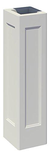 TRAX Beton Schaft: 2 Spiegel/eckig/gegenüber - 45 x 45 x 175 cm