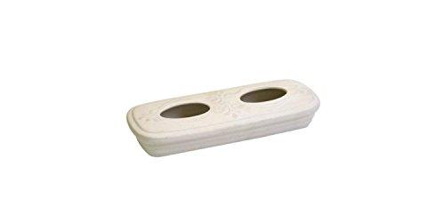 1 Stück Kamino Trend (820394) Stand-Heizungsverdunster, Heizkörperverdunster, Luftbefeuchter, Aufstellverdunster, weiß, oval, Maße: 14 x 30 x 5 cm