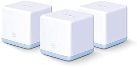 Mercusys Halo S12 (3-Pack) AC1200 Whole Home Mesh Wi-Fi System 1200 Mbps WiFi Wireless Speed Router, Up to 3500 sq ft Cove...