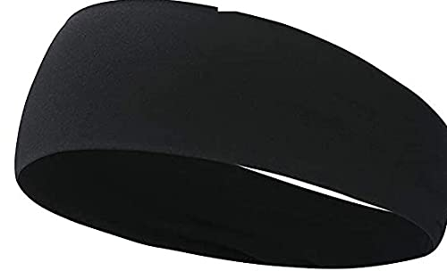 Headbands for Men Women Mens Headband Non Slip for Yoga Fitness Exercise Workout Running Sports Travel Cycling Hiking, Lightweight Breathable Sweatbands Bike (Black)