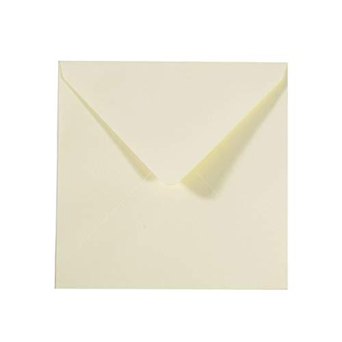 Vaessen Creative Florence Briefumschläge Quadratisch Groß Elfenbein, 25 Stück, für Geburtstagskarten, passende Faltkarten erhältlich