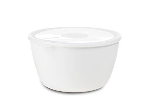 Mepal Schale mit Deckel volumia 3 L, Plastik, Weiß, 25 x 23.3 x 13.2 cm
