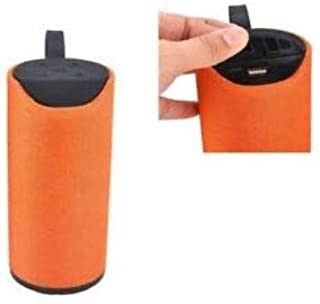 Super Bass Splashproof Wireless Bluetooth Speaker Best Sound Quality Playing with Mobile/Tablet/Laptop/AUX/Memory Card/Pan Drive/FM (Orange)