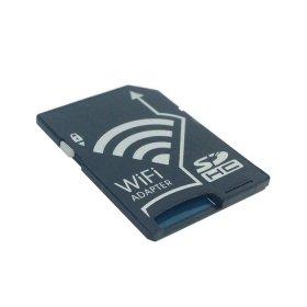 Cablecc - Kit adattatore WiFi senza fili da scheda di memoria TF Micro SD a scheda SD SDHC SDXC, per iPhone, iPad, smartphone e tablet Android, macchine fotografiche DC, DV e SLR