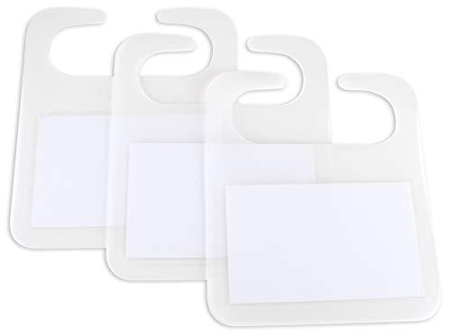 Label Set für Faltboxen transparent beschreibbar Kennzeichen Markierung Beschriften Sortieren Ablage