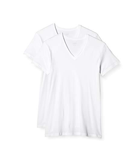 [グンゼ] インナーシャツ the GUNZE STANDARD VネックTシャツ 2枚組 メンズ ホワイト_The GUNZE最新版 日本 L (日本サイズL相当)