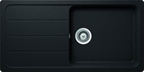 SCHOCK Küchenspüle 100 x 50 cm Formhaus D-100L Nero - CRISTALITE Granitspüle ab 60 cm Unterschrank-Breite
