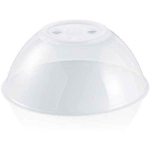 Hausfelder XL Mikrowellen Abdeckung - extra breit, hoch und robust - einsetzbar als Abdeckhaube Deckel Spritzschutz für die Mikrowelle
