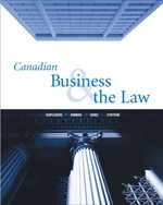Canadian Business & the Law