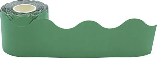 Eucalyptus Green Scalloped Rolled Border Trim Photo #2