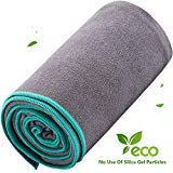 DubeeBaby Non Slip Absorbent Hot Yoga Towel for Yoga Mat 24x72 inch