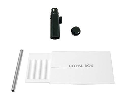 M&M Smartek Royal Box mit Röhrchen inkl. kostenlosem Dosierer für Schnupftabak in verschiedenen Variationen (Weiß)