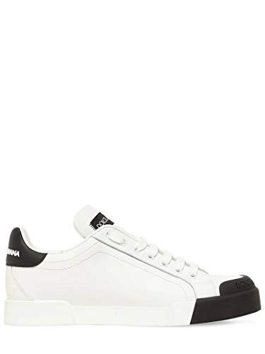 Dolce & Gabbana White Portofino Sneakers New/Authentic FW20 (Numeric_7_Point_5)