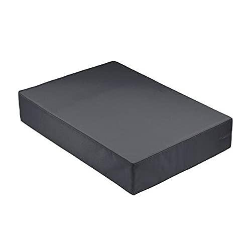 Cojín / colchón exterior para paleta [EUR] de fibra comprimida, desenfundable, impermeable, antracita, 120 x 80 x 10 cm, 100% poliéster [confort óptimo]