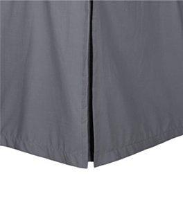Dreamz Parure de lit Super Doux Coton égyptien 550 Fils Finition élégante 1PC en pli Creux Jupe de lit (Drop Longueur : 20,3 cm) Single Long, éléphant Gris/Gris foncé Solide
