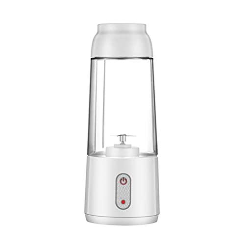 Portátil Mini Four Leaf Blender Fruit Juicer Electric Smoothie Maker USB Recargable Milkshake Hogar Regalo al Aire Libre, White,Mini Portable juicer