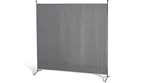 GRASEKAMP Qualität seit 1972 Stellwand 180x180 cm - grau - Paravent Raumteiler Trennwand Sichtschutz