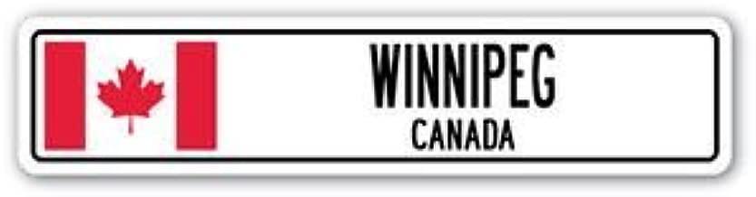 3 Pack: WINNIPEG, CANADA Street Sign Sticker 3