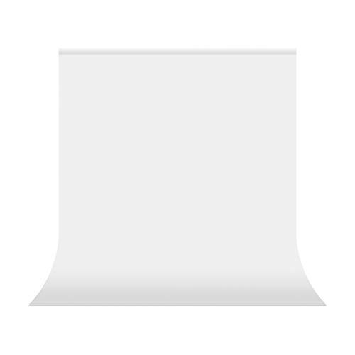 UTEBIT Backdrop Weiß 1,5x2m / 5x6.5ft Fotohintergrund Weiss Faltbare Fotostudio Hintergrund 100% Polyester Fotografie Hintergrundstoff mit Stangentasche für Hintergrundstand Fotostudio Porträt Produkt