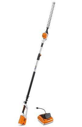 Stihl HLA 85, tostadora a batería, Cuchillos orientables de 115°, Longitud en Reposo 180 cm, Longitud Total 260 – 330 cm, Peso 4,4 kg. Completo con batería Ap 200 y Cargador 300