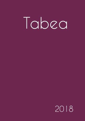 2018: Namenskalender 2018 - Tabea - DIN A5 - eine Woche pro Doppelseite
