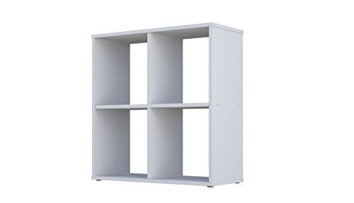 Polini Home Raumteiler Bücherregal Regal Standregal weiß 4 Fach