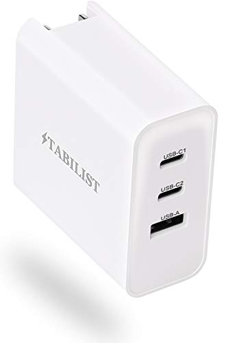 PD 急速充電器 USB Type-C 65W 3ポート GaN 折畳 PSE認証済 PD3.0対応 MacBook Pro USB-A USB-C 窒化ガリウム acアダプター iPhone 11 XR XS X Max Galaxy S10+ iPad Pro パソコン