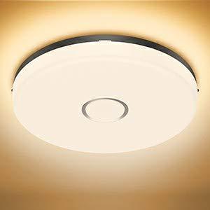 Olafus 18W LED Deckenleuchte Bad, IP54 Wasserfest Badlampe Warmweiß, 2700K 1600lm Bad Deckenlampe Feuchtraum, Ø24cm Wandlampe Rund Ideal für Badezimmer Küche Balkon