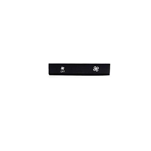 Qivor Interruptor de Control Botón de Ventilador Tapa de Aire Acondicionado Cubierta para BMW F07 F10 F18 F01 F02 F06 5 Serie 6 Serie 7 Series (Color : A3 Off)