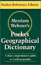 Merriam-Webster's Pocket Geographical Dictionary (Pocket Reference Library)