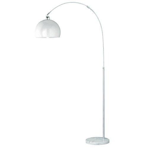 Reality|Trio Bogenlampe Stehleuchte Höhe: 150-210cm Schirm: 30cm ~ weiß